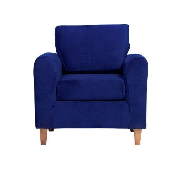 Living Delfos Sofa 2 Cuerpos Sillones Azul 5