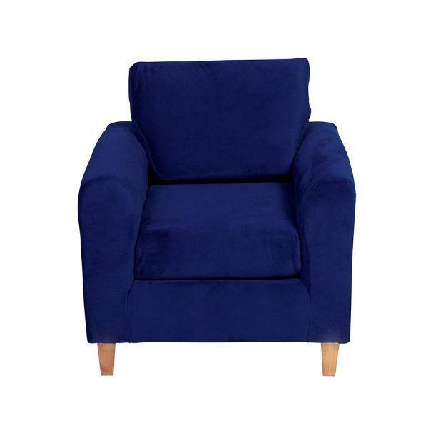 Living Delfos Sofa 2 Cuerpos Sillones Azul 6