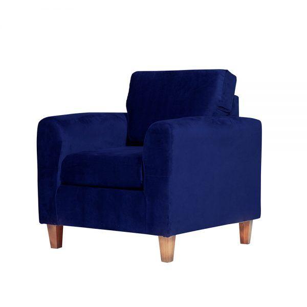 Living Delfos Sofa 2 Cuerpos Sillones Azul 7