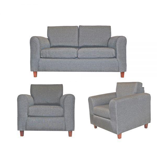 Living Delfos Sofa 2 Cuerpos Sillones Gris 1