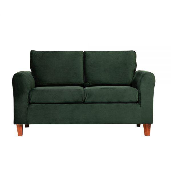Living Delfos Sofa 2 Cuerpos Sillones Verde 2