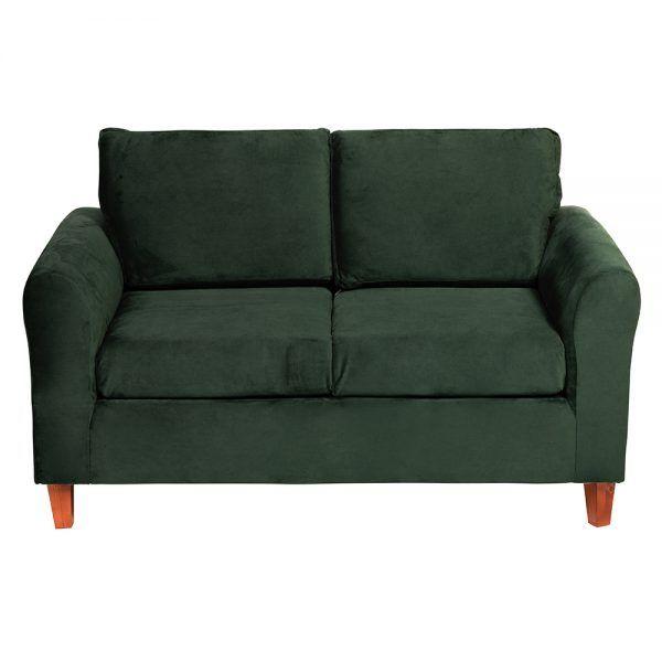 Living Delfos Sofa 2 Cuerpos Sillones Verde 3