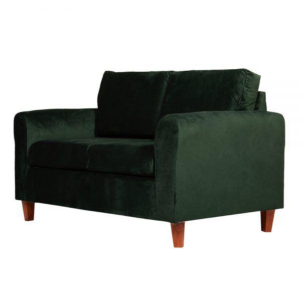 Living Delfos Sofa 2 Cuerpos Sillones Verde 4
