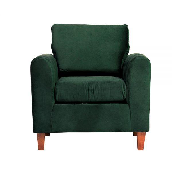 Living Delfos Sofa 2 Cuerpos Sillones Verde 5