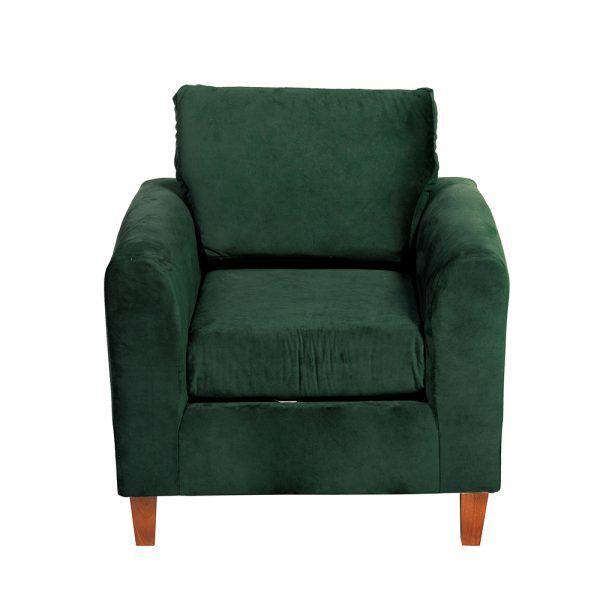 Living Delfos Sofa 2 Cuerpos Sillones Verde 6