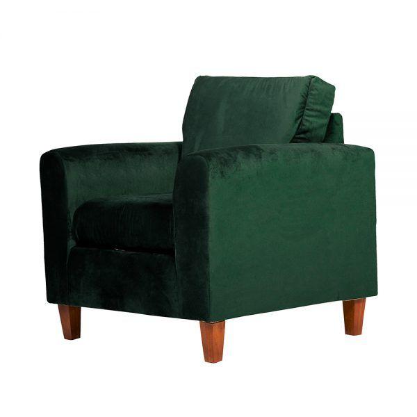 Living Delfos Sofa 2 Cuerpos Sillones Verde 7