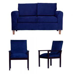 Living Delfos Sofa 2 Cuerpos Sitiales Azul 1