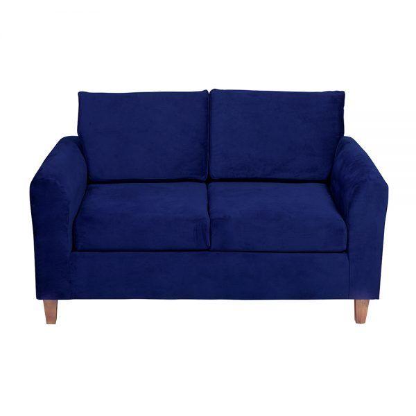 Living Delfos Sofa 2 Cuerpos Sitiales Azul 3