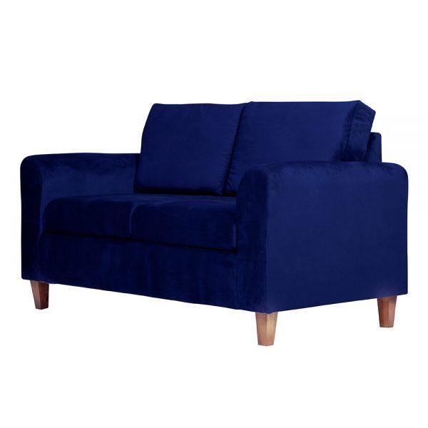 Living Delfos Sofa 2 Cuerpos Sitiales Azul 4