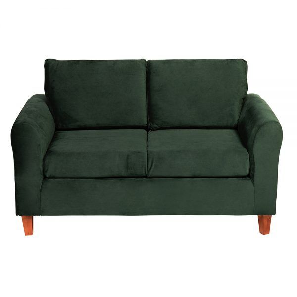 Living Delfos Sofa 2 Cuerpos Sitiales Verde 3