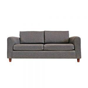 Living Delfos Sofa 3 Cuerpos 2 Sitiales Gris 2