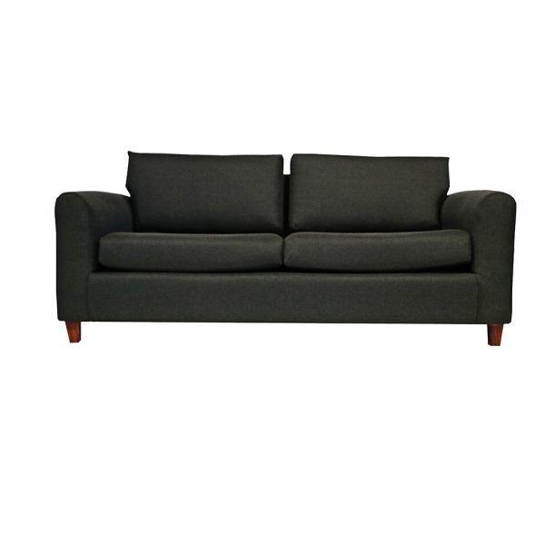 Living Delfos Sofa 3 Cuerpos 2 Sitiales Gris Oscuro 2