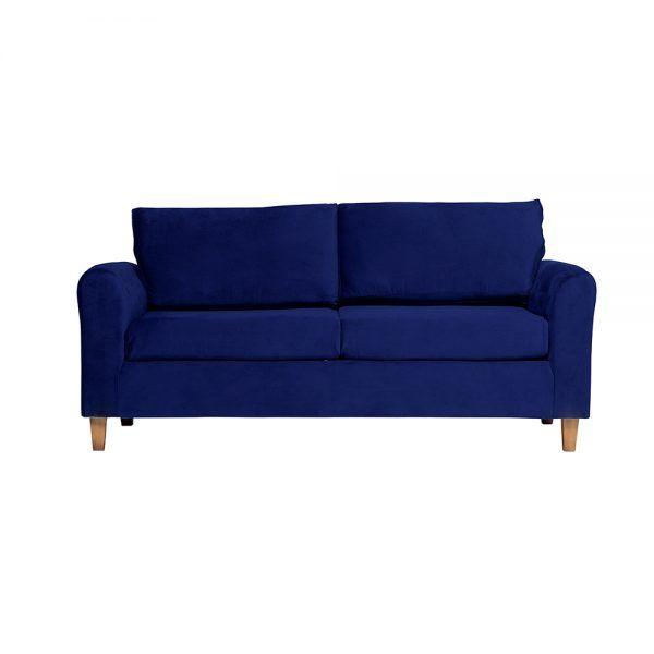 Living Delfos Sofa 3 Cuerpos Sillones Azul 2
