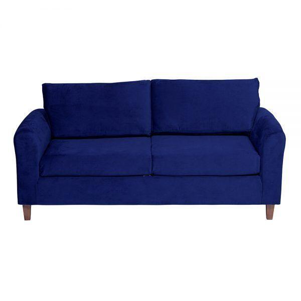 Living Delfos Sofa 3 Cuerpos Sillones Azul 3