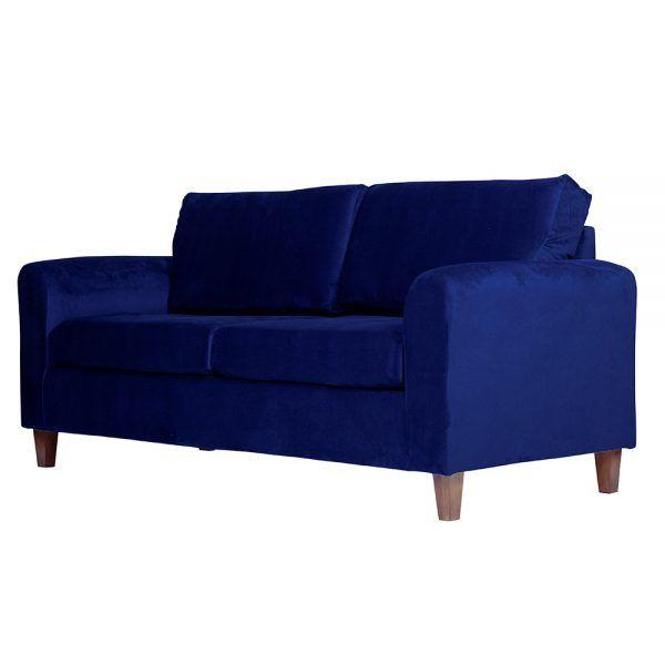 Living Delfos Sofa 3 Cuerpos Sillones Azul 4