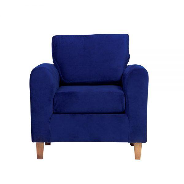 Living Delfos Sofa 3 Cuerpos Sillones Azul 5
