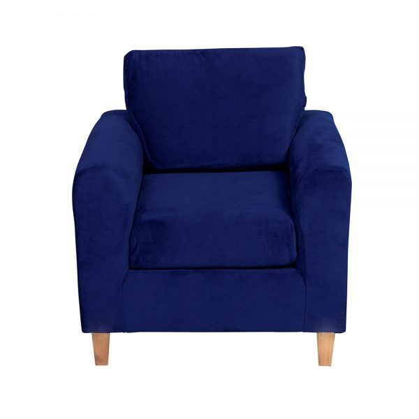 Living Delfos Sofa 3 Cuerpos Sillones Azul 6