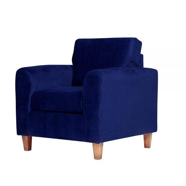 Living Delfos Sofa 3 Cuerpos Sillones Azul 7