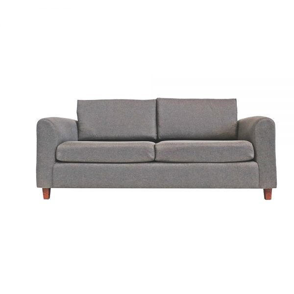 Living Delfos Sofa 3 Cuerpos Sillones Gris 2