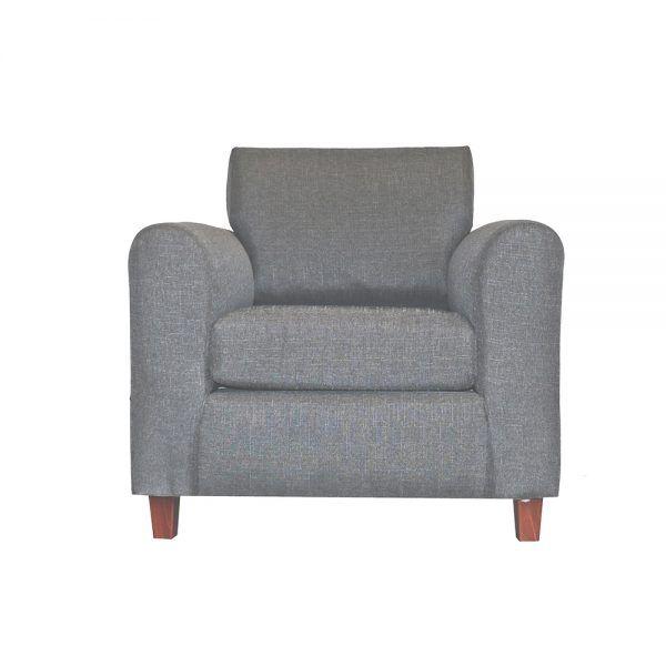 Living Delfos Sofa 3 Cuerpos Sillones Gris 4