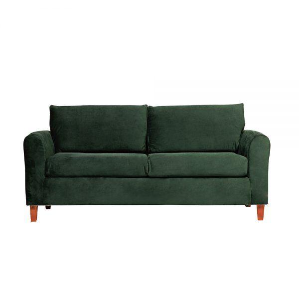 Living Delfos Sofa 3 Cuerpos Sillones Verde 2