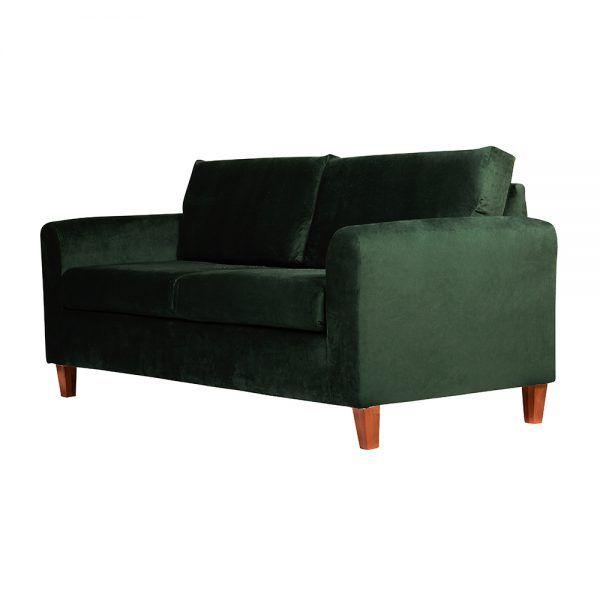 Living Delfos Sofa 3 Cuerpos Sillones Verde 4