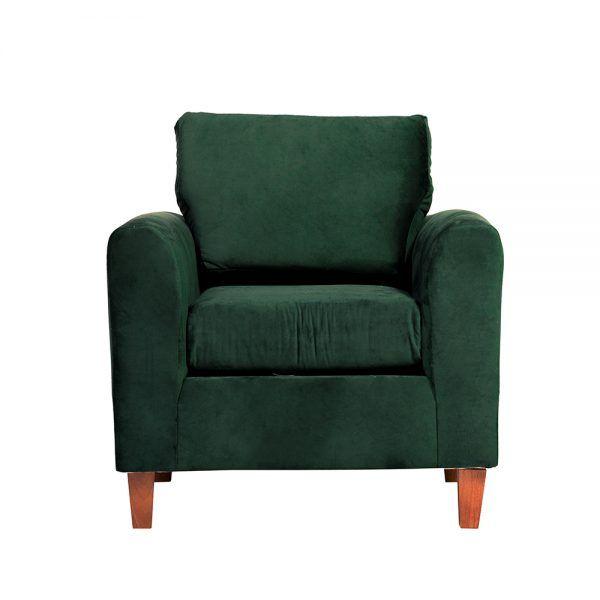 Living Delfos Sofa 3 Cuerpos Sillones Verde 5