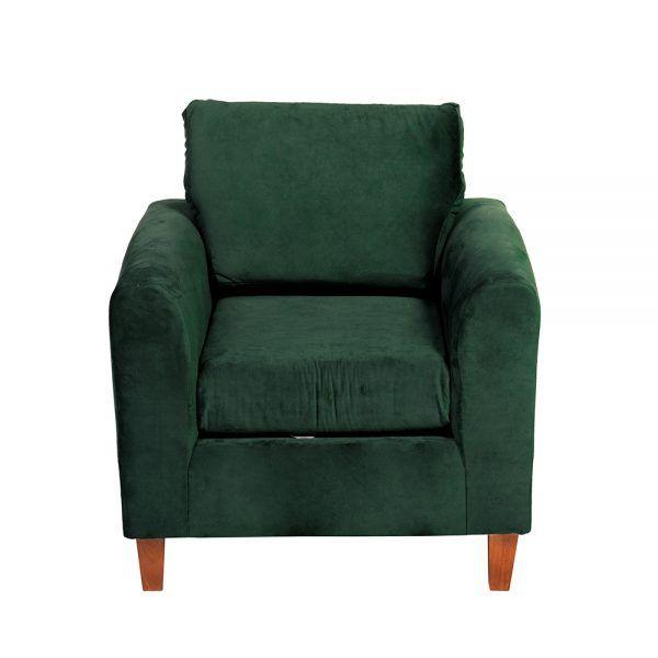 Living Delfos Sofa 3 Cuerpos Sillones Verde 6