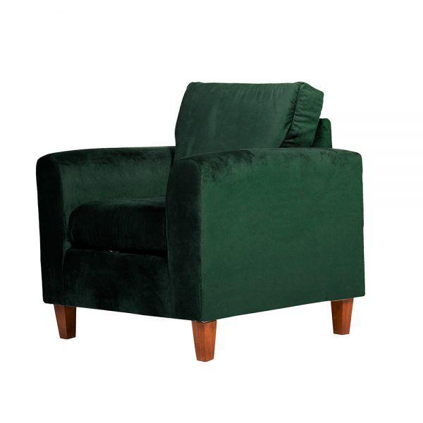 Living Delfos Sofa 3 Cuerpos Sillones Verde 7