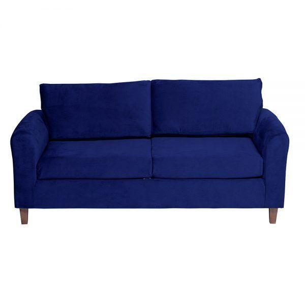 Living Delfos Sofa 3 Cuerpos Sitiales Azul 3