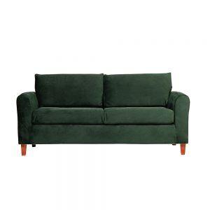Living Delfos Sofa 3 Cuerpos Sitiales Verde 2