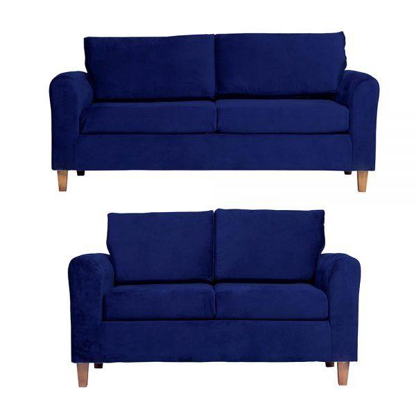 Living Delfos Sofa 3 Cuerpos Sofa 2 Cuerpos Azul 1