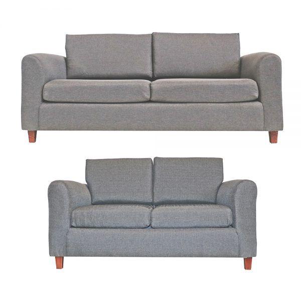 Living Delfos Sofa 3 Cuerpos Sofa 2 Cuerpos Gris 1