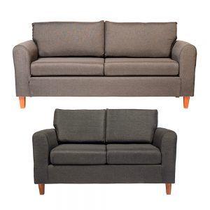 Living Delfos Sofa 3 Cuerpos Sofa 2 Cuerpos Gris Oscuro 1