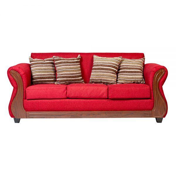 Living Facundo Sofa 3 Cuerpos 2 Sillones Rojo 2