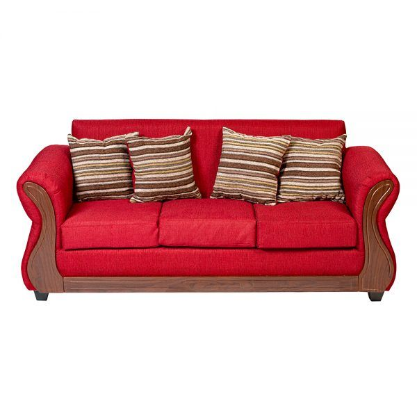 Living Facundo Sofa 3 Cuerpos 2 Sillones Rojo 3