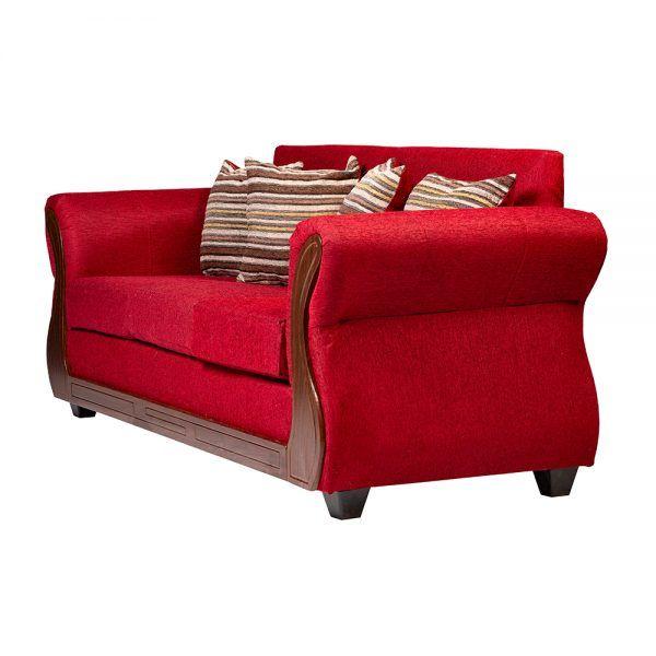 Living Facundo Sofa 3 Cuerpos 2 Sillones Rojo 4