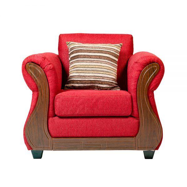 Living Facundo Sofa 3 Cuerpos 2 Sillones Rojo 5