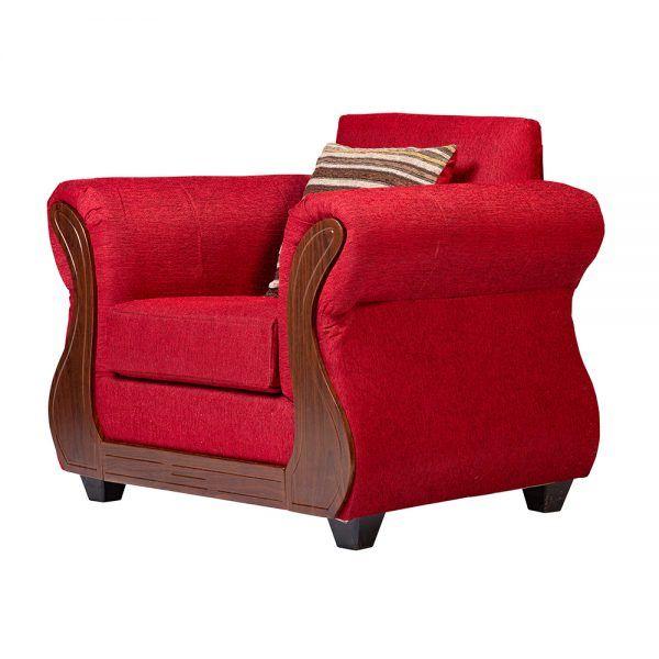 Living Facundo Sofa 3 Cuerpos 2 Sillones Rojo 7