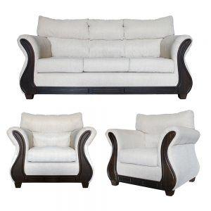 Living Galileo Sofa 3 Cuerpos 2 Sillones Beige 1