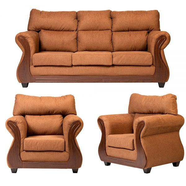 Living Galileo Sofa 3 Cuerpos 2 Sillones Cafe 1