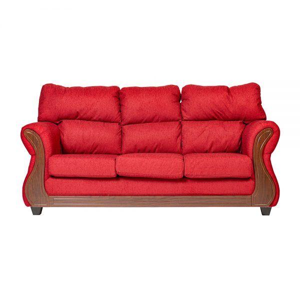 Living Galileo Sofa 3 Cuerpos 2 Sillones Rojo 2