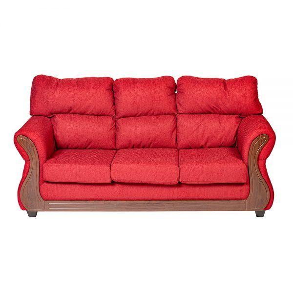 Living Galileo Sofa 3 Cuerpos 2 Sillones Rojo 3