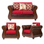 Living Hamilton Sofa 2 Cuerpos 2 Sillones Rojo 1