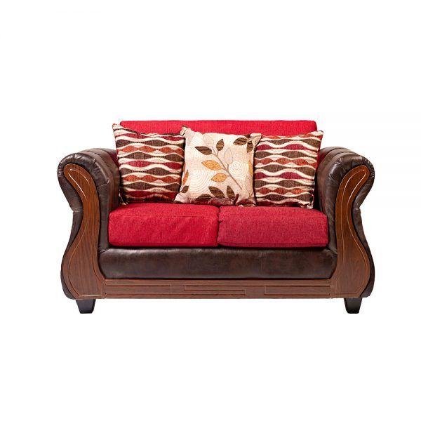 Living Hamilton Sofa 2 Cuerpos 2 Sillones Rojo 2