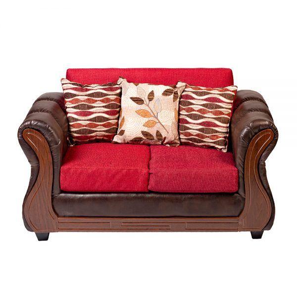 Living Hamilton Sofa 2 Cuerpos 2 Sillones Rojo 3