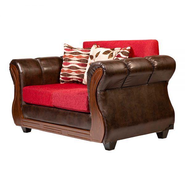 Living Hamilton Sofa 2 Cuerpos 2 Sillones Rojo 4