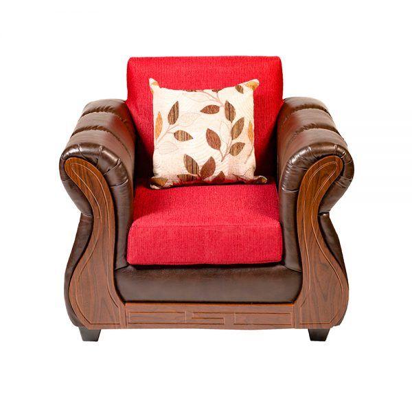 Living Hamilton Sofa 2 Cuerpos 2 Sillones Rojo 6