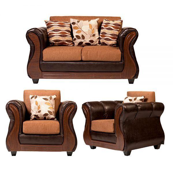 Living Hamilton Sofa 2 Cuerpos 2 sillones Cafe 1