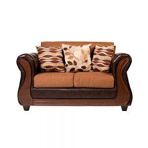 Living Hamilton Sofa 2 Cuerpos 2 sillones Cafe 2